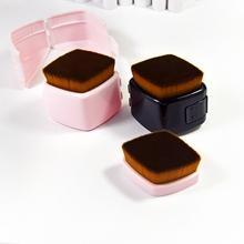 square handle synthetic hair powder makeup brush