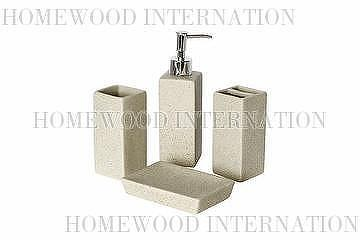 Toilet Accessoires Set : Taiwan bath accessories ceramic bathroom set imitation stone