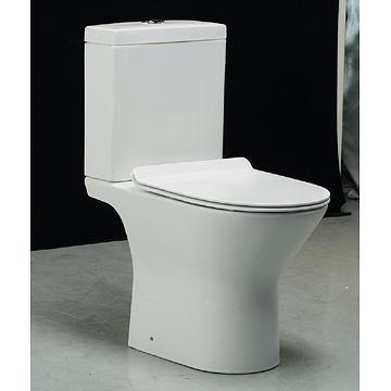 Rimless Toilet with Pipe Connector
