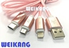 USB A type to iOS Lightning to Micro USB to Type C, Charging Cable