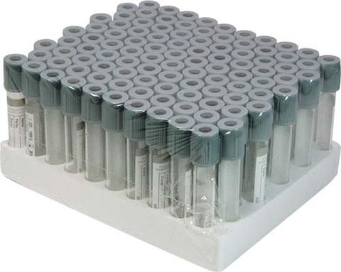 Fluoride Oxalate - Plastic vacuum blood collection tube.