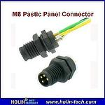 M8 Plastic Panel Connector with Soldered Wire