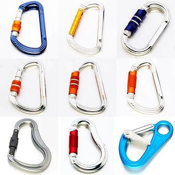 Safety Hooks, carabiners, spring hooks,