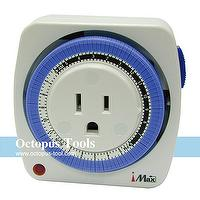Mechanical Outlet Timer 24-Hour A Cycle