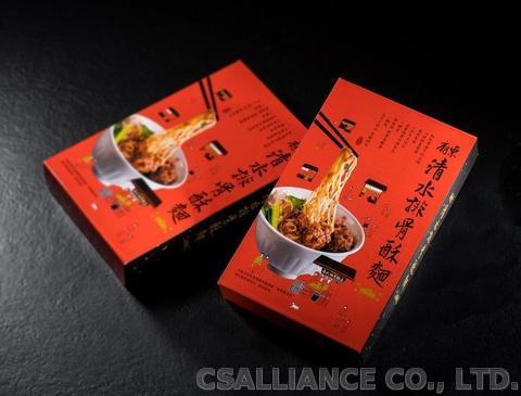 豐原廟東清水排骨酥麵 台灣傳統小吃 即食湯麵