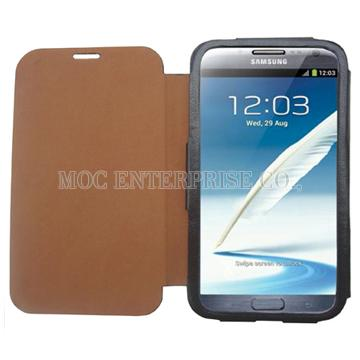 Rollover PU case for Samsung Galaxy Note 2