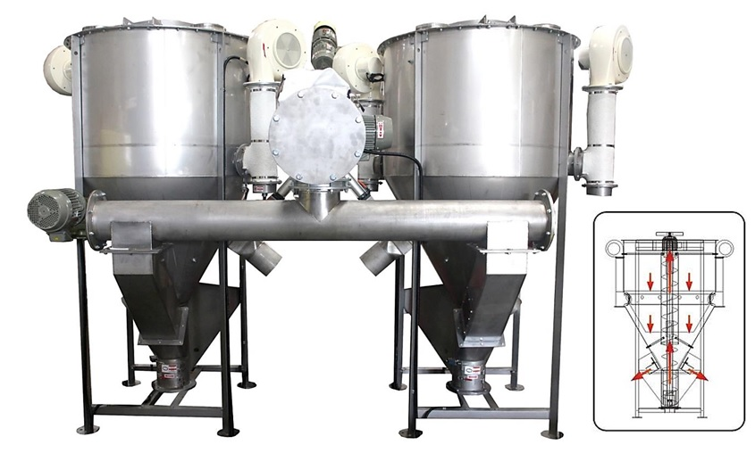hot air vertical drying mixer tank  chemical mixer