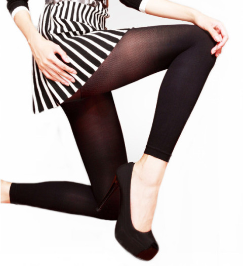 Footless, Deparee Microfiber Soft Leggings, 60D