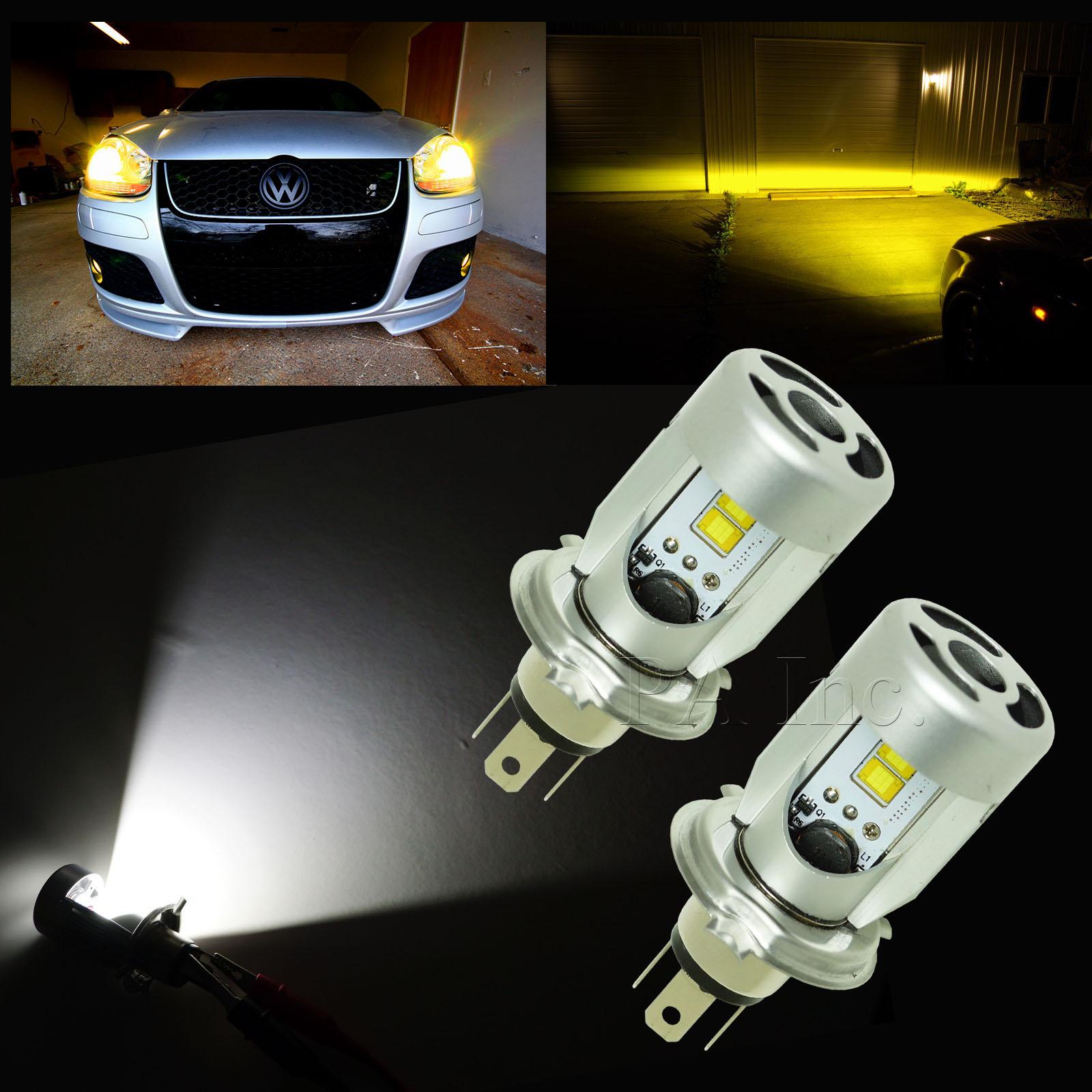 Low Beam Spot Driving Fog Lamp 12V H4 20W Motorcycle LED Headlight Bulb High