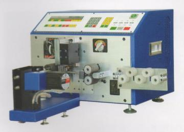 Automatic wire cutting and stripping and twisting machine
