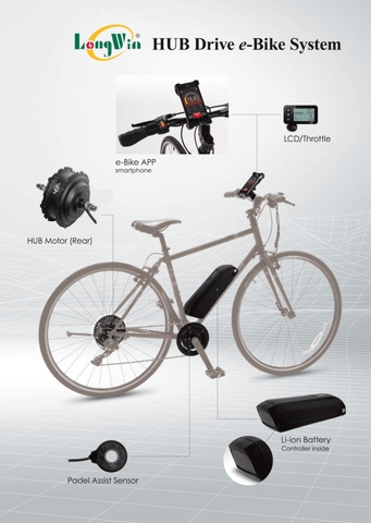 High Speed 45KM E-Bike Motor Kit
