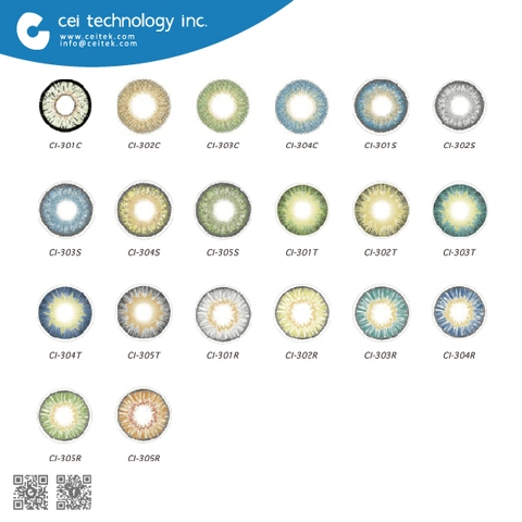 Taiwan 2018 Cheap Colored Contacts Lens with Contact Lenses