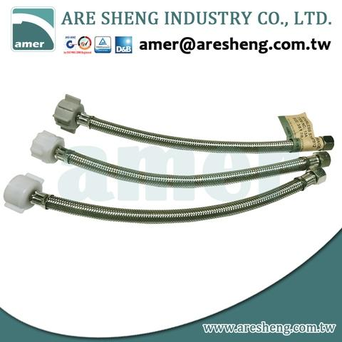 """18/"""" LONG 3//8/"""" COMP X 7//8/"""" BC LEAD FREE BRAIDED STAINLESS STEEL TOILET HOSE 2"""