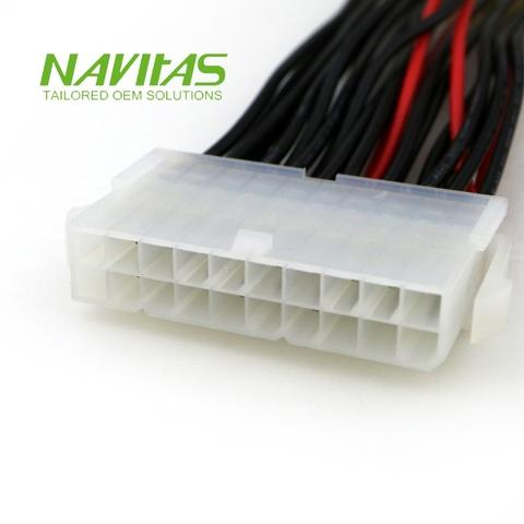 Taiwan 20+4 pin ATX PSU Cable Adapter Custom Wiring Harness ... on