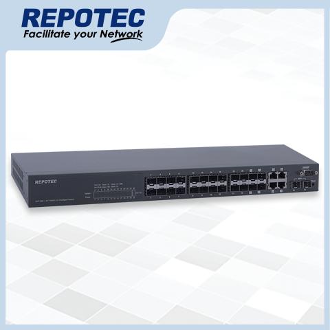 24-P SFP + 2-10G SFP+ uplink L2 managed switch
