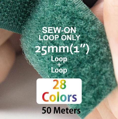 """25mm(1"""") Width 25 Pair Meters Sew-On Loop ONLY"""