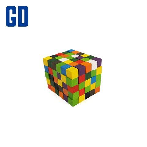 1cm Colorful Wood Cube Set