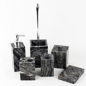 taiwan black square marble bathroom accessories
