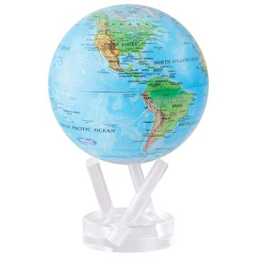 Relief Map Of The World.Taiwan 4 5 Relief Map Blue Mova Globe With Base Mova