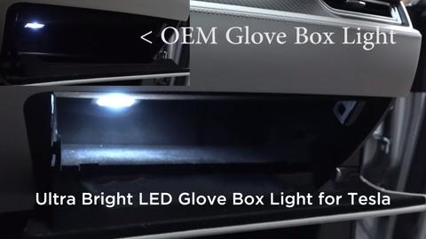 Tesla model 3 glove box light