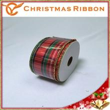 Xmas Accessory Red Check Christmas Package Fita