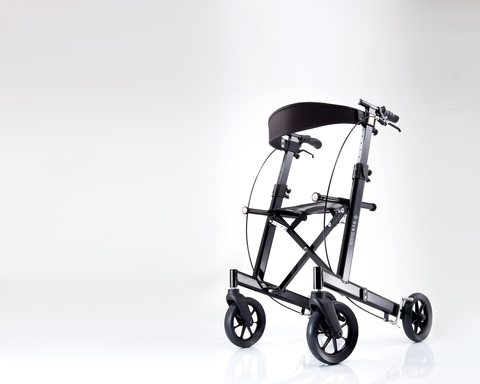 Tremendous Folding Aluminum Rollator Walker With Seat Height Bralicious Painted Fabric Chair Ideas Braliciousco