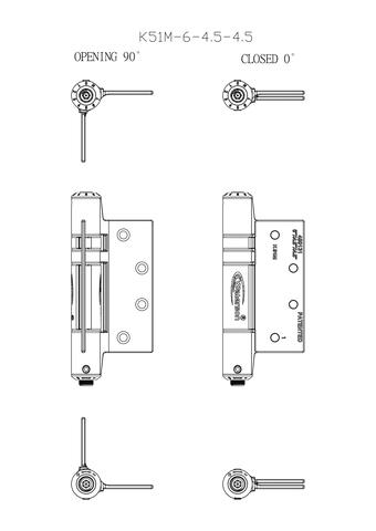 Door Closer Hinge - Full Mortise -6*6*4.5 US AREA