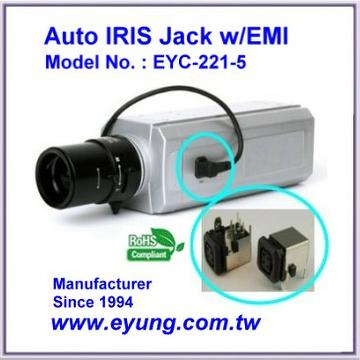 Auto IRIS Jack with metal EMI filter, Female Connector or IRIS Socket