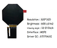 Bridging Systems Launch  Round LCD Wearable smart watch screen display