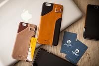 Genuine Leather phone case with pocket and card holder