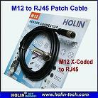 M12 X-Coded to RJ45 Patch Cable, Extension Cable for Automation Applications