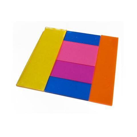 10cm square fraction tile transparent set
