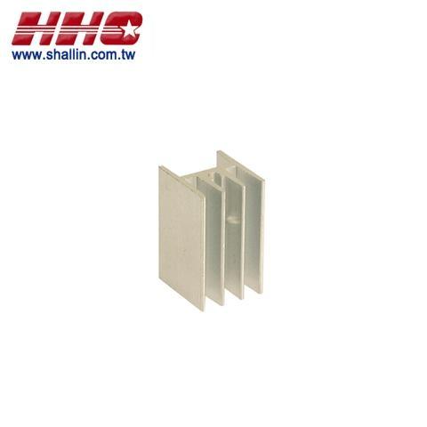 H style heat sink, 14.7 x 16.7 x 25mm