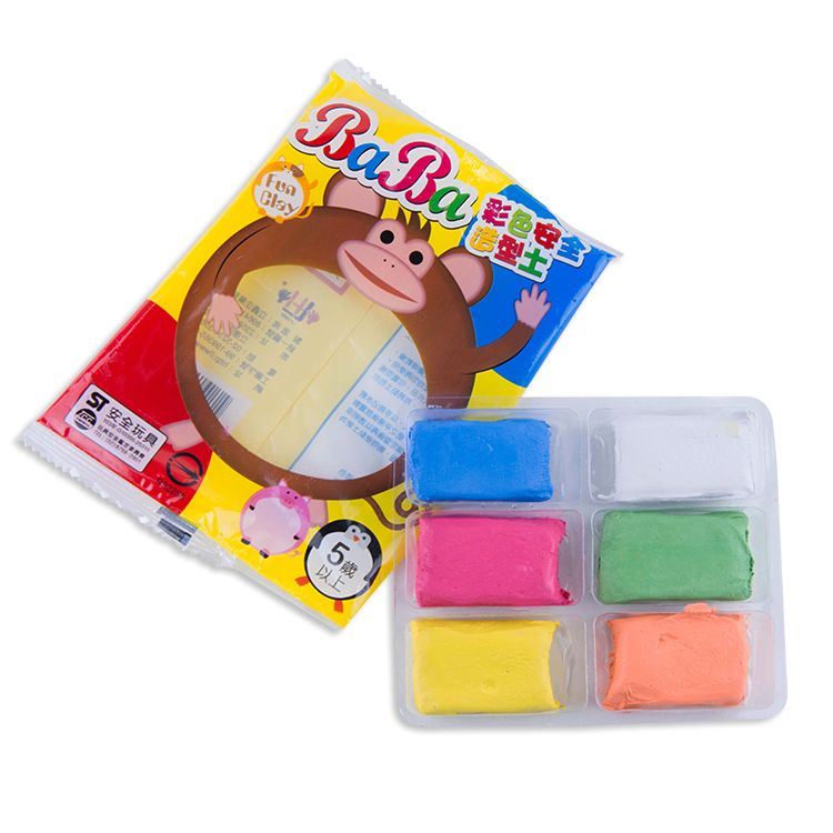 High Quality 6 Colors Custom Non-Toxic Safe Air Dry Paper Clay