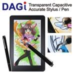 Apple New iPad iPad2 iPhone Transparent Capacitive DAGi Stylus Styli Pen Stylet Griffel fits for Windows Phone Mango HTC Titan, One, Sensati