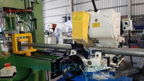 Circular Sawing Machine integrated with punch line