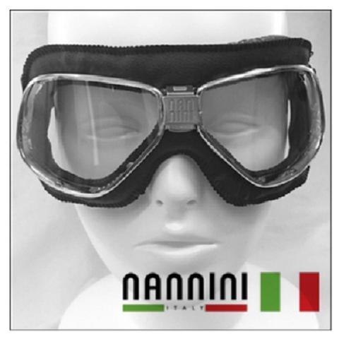 Nannini Brand-Cruise-Leather Anti-fog Motorbike Goggles