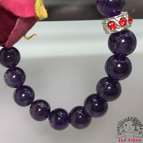 10mm Amethyst Bracelet Beaded Natural Stone