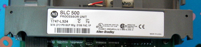PLC-ALLEN BRADLEY 1747-L524 PROCESSOR UNIT SLC500