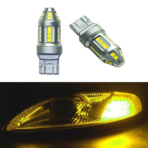 Turn Light T20 30SMD 2835 LED Gold Yellow Lens Lamp Bulb
