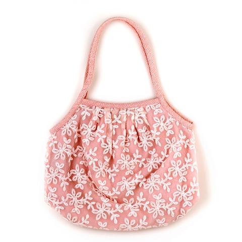 【明林蕾絲-小天馬】淑女蕾絲包-蜜桃粉(共兩色)- 手提/肩背兩用-台灣製精品