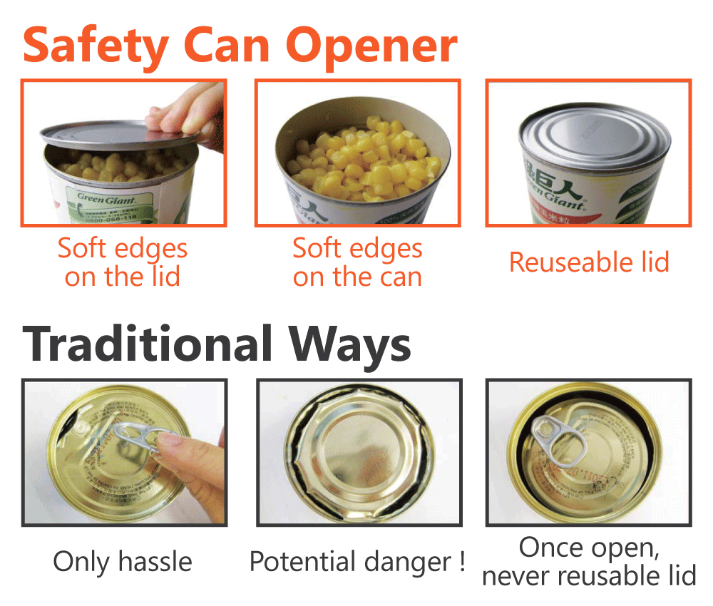 the advantage of safety can opener