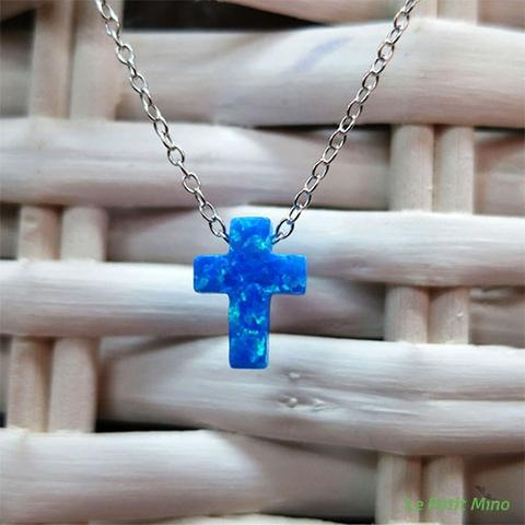 Collarbone Clavicle Cross Necklace Sterling Silver 1