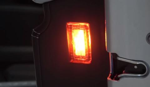 TesIa Model X Electric Car Lamp  Red
