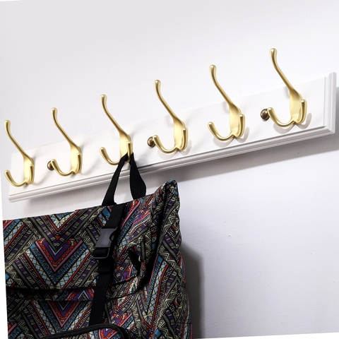Tri-Prongs Coat & Hat Hook with 3 Hooks