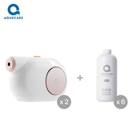 AQUECARE T1 Plus*2 + Super Concentrate Disinfectant*6