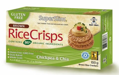 Want Want Brown Rice Crisps (OEM) - Chickpea & Chia