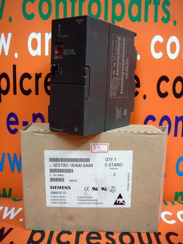 SIEMENS S7 PLC 6ES7 307-1BA00-0AA0 6ES7307-1BA00-0AA0 POWER SUPPLY MODULE 2AMP 115/230VAC 24VDC PS307