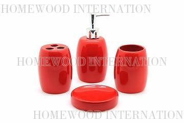 Taiwan Bath Accessories Ceramic Bathroom Set Soap Dispenser