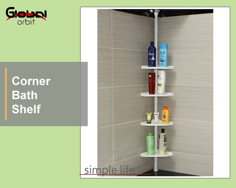 Corner Shelf Product - Bathroom Corner Shelf Shower Holder Mounted ...